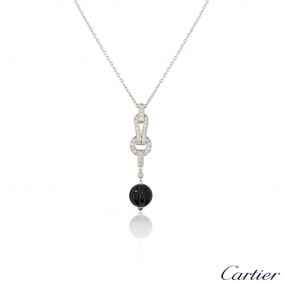 Cartier White Gold Agrafe Necklace